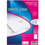 Etiquette Office Star Couleur Blanc