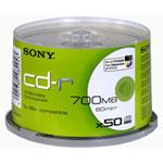 Sony CD-R 700 Mo certifié 48x imprimable (pack de 50, spindle)