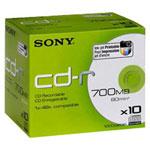 Sony CD-R 700 Mo certifié 48x imprimable (pack de 10, boitier standard)