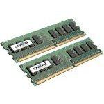 Kit Dual Channel RAM DDR2 PC5300 - CT2KIT12864AA667 (garantie 10 ans par Crucial)