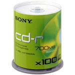 Sony CD-R 700 Mo certifié 48x (pack de 100, spindle)