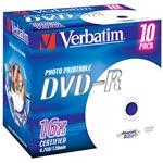 Verbatim DVD-R 4.7 Go certifié 16x imprimable (pack de 10, boitier standard)