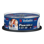 Verbatim CD-R 700 Mo certifié 52x imprimable (pack de 25, spindle)