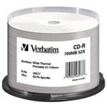 Verbatim CD-R 700 Mo Certifié 52x Thermique (pack de 50, boîtier simple)