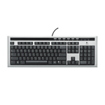 Logitech UltraX Premium Keyboard (coloris gris/noir)