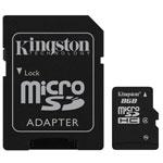 Kingston microSD 8 Go High Capacity + adaptateur SD (garantie 10 ans par Kingston)
