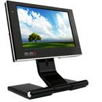 800 x 480 pixels - Pivot - sur port USB - Webcam et microphone intégrés