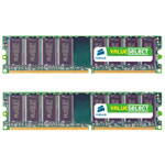 Kit Dual Channel RAM DDR2 PC6400 - VS4GBKIT800D2 (garantie 10 ans par Corsair)