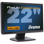 "iiyama 22"" LCD - ProLite 2208HDSV-B1 - 2 ms - Format large 16/9"