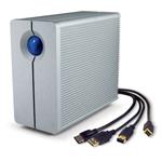 Système de stockage RAID professionnel haute performance à 2 disques sur ports eSATA/USB 2.0/FireWire 400/800 (garantie LaCie 5 ans)