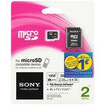 Sony microSD 2 Go (avec adaptateur SD)