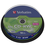 Verbatim CD-RW 700 Mo certifié 12x (pack de 10, spindle)