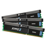 Kit Triple Channel RAM DDR3 PC10600 CL9 - CMX12GX3M3A1333C9 (garantie 10 ans par Corsair)