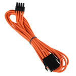 Extension d'alimentation gainée - EPS12V 8 pins - 45 cm (coloris orange)