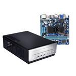 Gigabyte GA-E350N-USB3 + Antec ISK 310-150 Mini ITX - Double coeur AMD E350 avec graphique dédié AMD Radeon™ HD 6310 (sans écran/mémoire/disque dur) - (non monté)