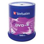 Verbatim DVD+R 4.7 Go certifié 16x (pack de 100, spindle)