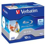 Verbatim BD-R DL 50 Go certifié 6x imprimable (pack de 10, boîtier standard)