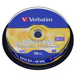 Verbatim DVD+RW 4.7 Go certifié 4x (pack de 10, spindle)