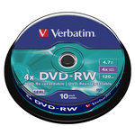 Verbatim DVD-RW 4.7 Go certifié 4x (pack de 10, spindle)