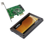"""SSD 64 Go 2.5"""" Serial ATA 6Gb/s avec carte contrôleur PCI-E 2 ports Serial ATA 6 Gb/s"""