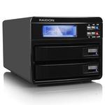 "RAIDON GR3630-2S-WBS2 - Boîtier externe RAID pour 2 disques durs 3""1/2 Serial ATA sur ports USB 2.0 / e-SATA II / FireWire 800 (noir)"