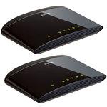 D-Link DES-1005D x2 - Pack de 2 switches 5 Ports 10/100 Mbps