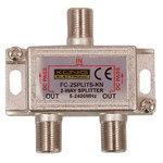 Répartiteur coaxial 2 voies Type F pour antenne satellite