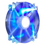 Ventilateur de boîtier 200 mm LED bleues (coloris transparent)