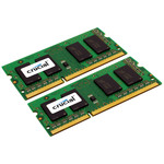 Kit Dual Channel RAM SO-DIMM DDR3 PC3-12800 - CT2KIT51264BF160B (garantie 10 ans par Crucial)
