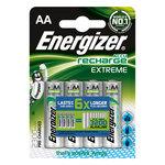 Pack de 4 piles AA (HR06) rechargeables 2300 mAh