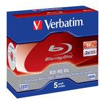Verbatim BD-RE DL 50 Go certifié 2x (pack de 5, boitier standard)