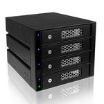 """Rack amovible pour 4 disques durs 3.5"""" Serial ATA/SAS dans 3 baies 5.25"""""""