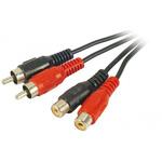 Cordon audio 2 RCA mâles / femelles