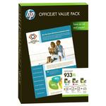 Pack Cartouches d'encre (cyan / magenta / jaune) + 25 feuilles A4 180 g/m² + 50 feuilles A4 80 g/m²