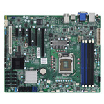Carte mère ATX Socket 1155 Intel C204 Aspeed AST2150 - 8x SAS 6Gb/s + 4x SATA 3Gb/s + 2x SATA 6Gb/s - 1x PCI Express 3.0 16x - 2 x Gigabit LAN