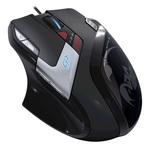 Souris filaire pour gamer - Droitier - Capteur laser 5700 dpi - 9 boutons - Rétro-éclairage - Poids ajustable