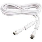 Câble coaxial mâle/femelle pour antenne TV (1.5 mètre)