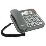 Téléphone filaire à grosses touches avec répondeur