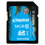 Carte SDHC 16 Go - Class 10 (garantie 10 ans par Kingston)