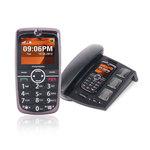 "Téléphone 2G - RAM 64 Mo - Ecran 2.1"" - 128 Mo + base avec combiné filaire"