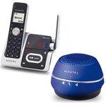 Téléphone DECT sans fil Bluetooth avec répondeur (version française) + Mini enceinte sans fil DECT/Bluetooth