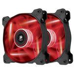 Paire de ventilateurs de boîtier 120 mm avec LEDs rouges