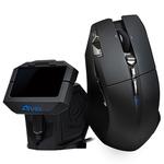 Souris sans fil pour gamer - Droitier - Capteur laser 5600 dpi - 10 boutons + station de contrôle à écran OLED