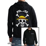 """Abystyle Sweat Shirt à Capuche """"Skull with map"""" Taille S"""