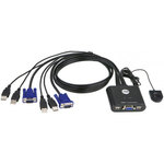 Switch KVM USB/VGA avec télécommande (compatible Windows, Mac et Linux)