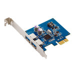 Carte PCI-Express 1x avec 2 ports USB 3.0