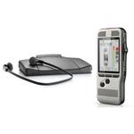 Kit de dictée et de transcription avec Dictaphone numérique 4 Go deux microphones slot MicroSD et pédale de commande