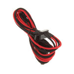 Câble d'alimentation gainé - Molex vers 4x SATA - 20 cm (coloris rouge/noir)