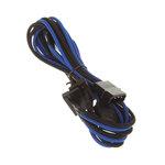Câble d'alimentation gainé - Molex vers 4x SATA - 20 cm (coloris bleu/noir)