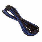 Extension d'alimentation gainée - EPS12V 8 pins - 45 cm (coloris bleu/noir)